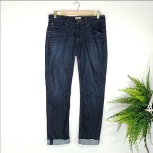Hudson Bacara Straight Flood Cuffed Jeans